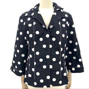 Carlise Silk Polka Dot Jacket